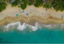 Sosua Beach from air
